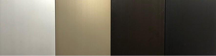 finishes colours natural anodised, light bronze, medium bronze, dark bronze and black